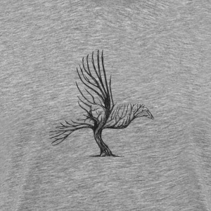 bird shaped tree - Men's Premium T-Shirt