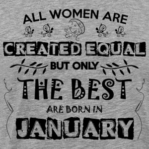 Woman Birthday January - Men's Premium T-Shirt