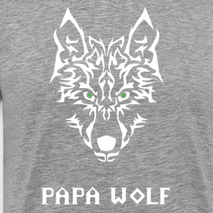 Papa wolf. Gifts for dads - Men's Premium T-Shirt