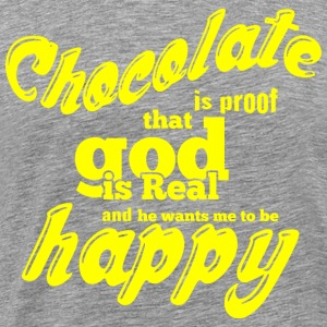 CHOCOLATE IS PROOF gelb - Männer Premium T-Shirt
