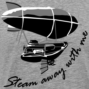 Steam away Airship - Männer Premium T-Shirt