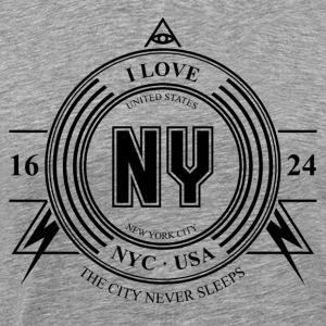 New York City Badge - Miesten premium t-paita