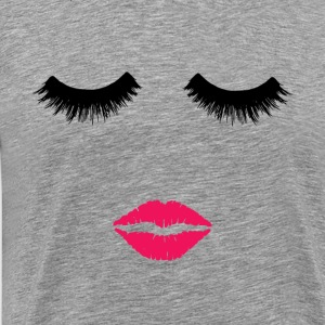 Beauty. Make up Artist. Sexy eyelashes & pink lips - Men's Premium T-Shirt