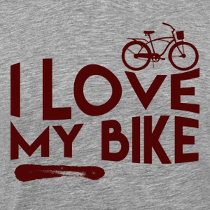 Love my bike - Mannen Premium T-shirt