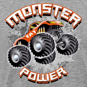 11A-02 POWER MONSTER TRUCK - FAT HJUL - Premium T-skjorte for menn