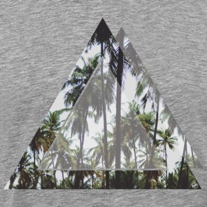 Triangular palm trees - Men's Premium T-Shirt
