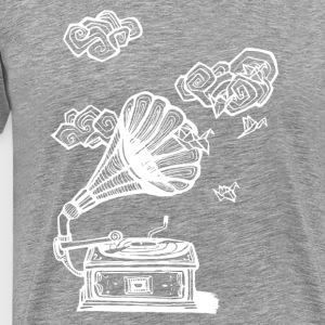 Gramophone - White - Men's Premium T-Shirt