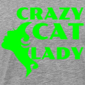 CRAZY CAT LADY grønn - Premium T-skjorte for menn
