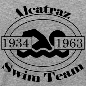 Alcatraz Swim Team Black - Männer Premium T-Shirt