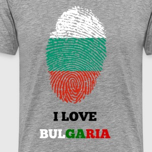 I LOVE BULGARIA - Premium T-skjorte for menn