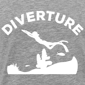 DIVERTURE Freediving Reef - Männer Premium T-Shirt