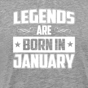 Legends are born in January - T-shirt - Men's Premium T-Shirt
