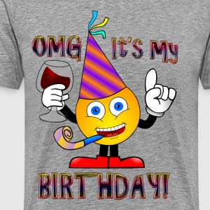 Emoji. Emoticon. Birthday Boy. Love Wine. Birthday - Men's Premium T-Shirt