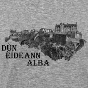 Edinburgh Castle Skottland - Premium T-skjorte for menn