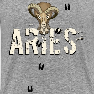Mufflon aeries star sign Aries sheep gift - Men's Premium T-Shirt