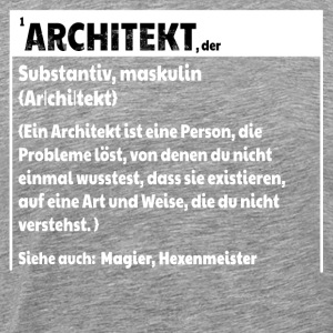 Architekt Definition - Männer Premium T-Shirt