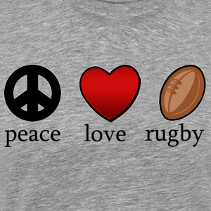 Peace Love Rugby - Men's Premium T-Shirt