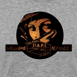 welcome refugees - Men's Premium T-Shirt