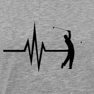 Mit hjerte banker for golf - Golfer Golf Ball - Herre premium T-shirt