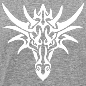 Tribal White Dragon - Herre premium T-shirt