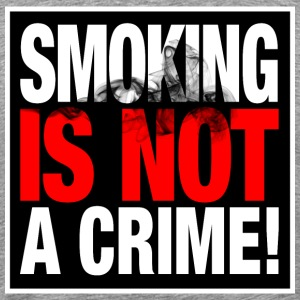 SMOKING IS NOT A CRIME - Männer Premium T-Shirt