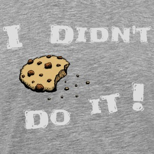 Cookie biscuit thief small robber crumbs gift - Men's Premium T-Shirt