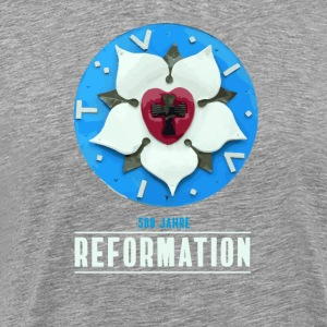 luther rose Reformation 500 Kirchentag Thesen bete - Männer Premium T-Shirt