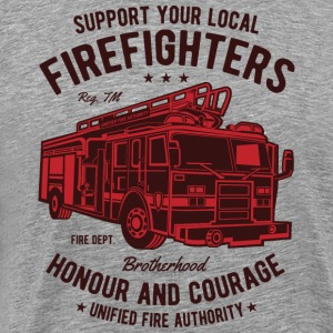 car. Support your local fire department - Men's Premium T-Shirt
