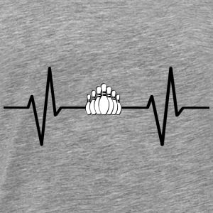 My heart beats for bowling! present - Men's Premium T-Shirt