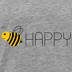 Bee Happy tekst - Mannen Premium T-shirt