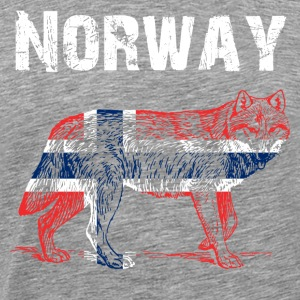 Nation-Design Norge Wolf - Premium-T-shirt herr