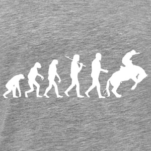 Rodeo Cowboy Country Rider Evolution - Mannen Premium T-shirt