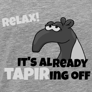 relax grumpy Tapir that solves all the gift - Men's Premium T-Shirt