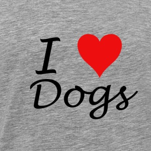 I Love Dogs - Männer Premium T-Shirt