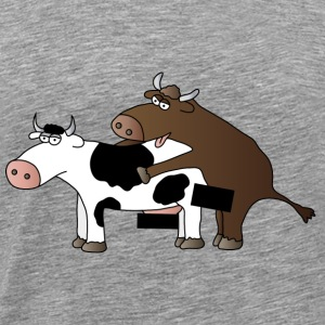 Cattle Censored Bull | Cow | Farmhouse | Farmer - Men's Premium T-Shirt