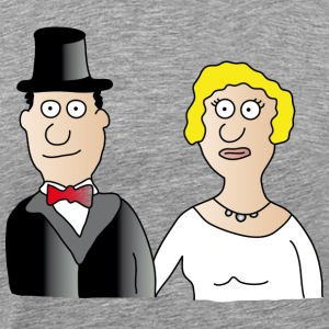 Wedding | Married couple Marriage Bridegroom bride JGA - Men's Premium T-Shirt