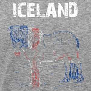 Nation-Design Islande Cheval - T-shirt Premium Homme