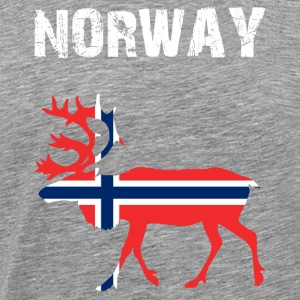 Nation-Design Norvège Reindeer - T-shirt Premium Homme