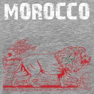 la conception de la nation Maroc Lion - T-shirt Premium Homme