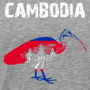 Nation-Design Cambodia Ibis - Men's Premium T-Shirt