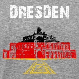 City Art Dresden Semperoper - Mannen Premium T-shirt