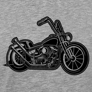 Chopper / Bobber Motorcycle 02 black - Men's Premium T-Shirt