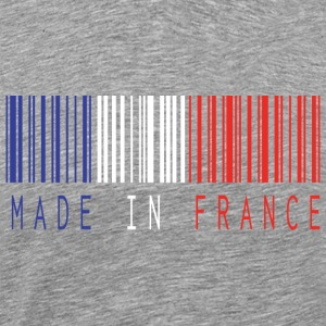MADE IN FRANCE BARCODE - Herre premium T-shirt