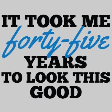 Fabulous 45 / birthday / Sport / verjaardag / vijfenveertig van Funky Art #XP78