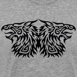 Double Gryphon Tribal - T-shirt Premium Homme