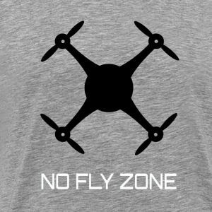 NO FLY ZONE - Premium T-skjorte for menn