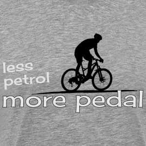 Pedals instead of gasoline cycling eco gift - Men's Premium T-Shirt