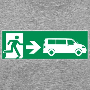 Emergency Exit T5 || SOUND BOX ON TOUR - Mannen Premium T-shirt