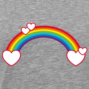 Rainbow love heart happy in love happy - Men's Premium T-Shirt