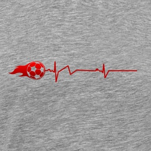 FOOTBALL | balle battement de coeur - Football - T-shirt Premium Homme